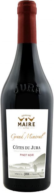 Cotes de Jura Grand Mineral Pinot Noir bottle