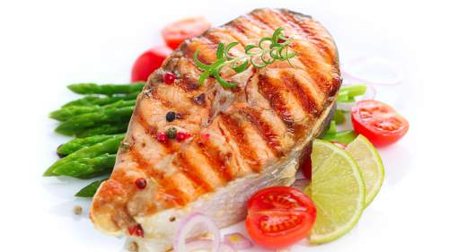 Grilled Salmon with Lemon Beurre Blanc
