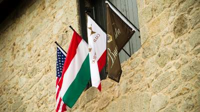 The Flags at Our Champagne Cellars