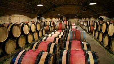 Jean-Claude Boisset barrel room